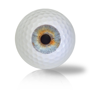 Grey Brown Eye Ball Golf Balls Used Golf Balls - Foundgolfballs.com