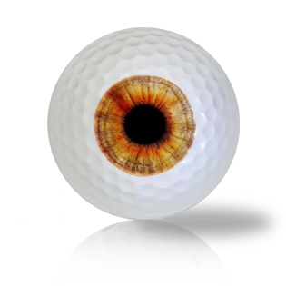 Light Brown Eye Ball Golf Balls Used Golf Balls - Foundgolfballs.com