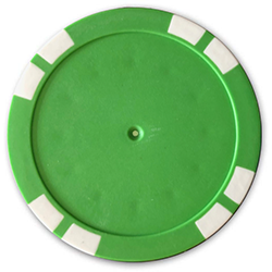 Personalized Poker Chips - Solid Green Used Golf Balls - Foundgolfballs.com