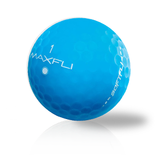 Custom Maxfli Softfli Matte Blue Used Golf Balls - Foundgolfballs.com
