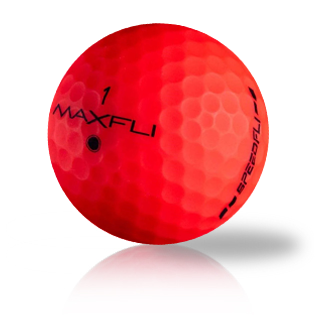 Maxfli SpeedFli Matte Red Used Golf Balls - Foundgolfballs.com