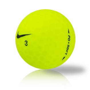 Custom Nike PD Soft Yellow Used Golf Balls - Foundgolfballs.com