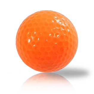 New Orange Blank Balls Used Golf Balls - Foundgolfballs.com