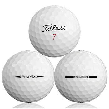 Custom Titleist Pro V1X 2018 Refinished (Straight Line) Used Golf Balls - Foundgolfballs.com