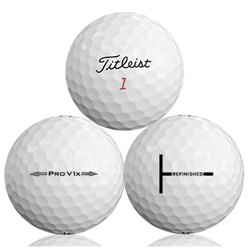 Custom Titleist Pro V1X Refinished (T-Line) Used Golf Balls - Foundgolfballs.com