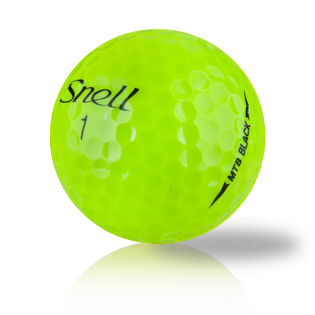 Custom Snell My Tour Ball Black Yellow Used Golf Balls - Foundgolfballs.com
