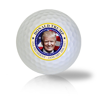 President Donald Trump Official Seal Golf Balls Used Golf Balls - Foundgolfballs.com