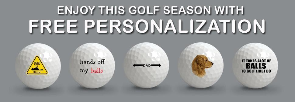 Free Personalization On All 5A No Logo Grade Golf Balls