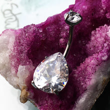 Tear Drop Crystal Navel Curve