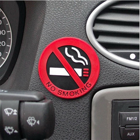 3pc Rubber NO SMOKING Sign Tips Sticker