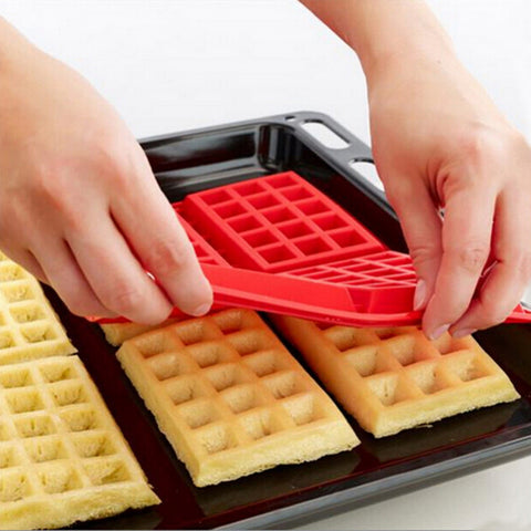 4-Cavity Waffles Cake Chocolate Pan Silicone