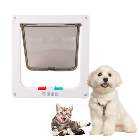 Dog and Cat 4 Way Lockable Plastic Door