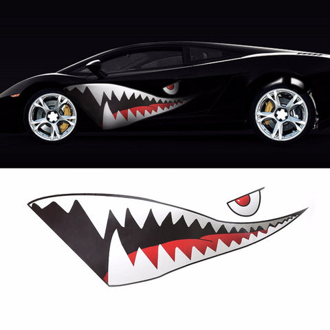 3D Shark Style Sticker