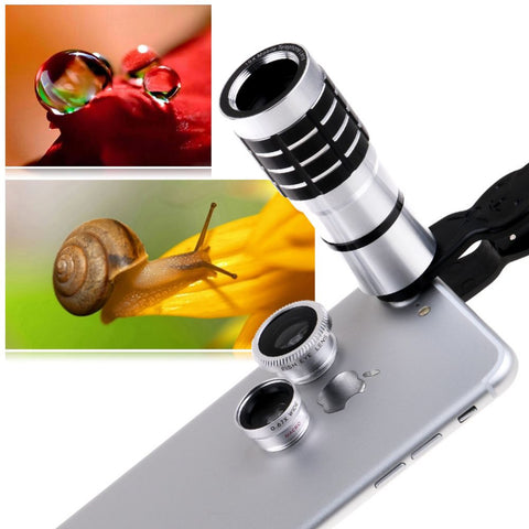 Fish Eye Wide Angle Micro Clip-On Camera Lens