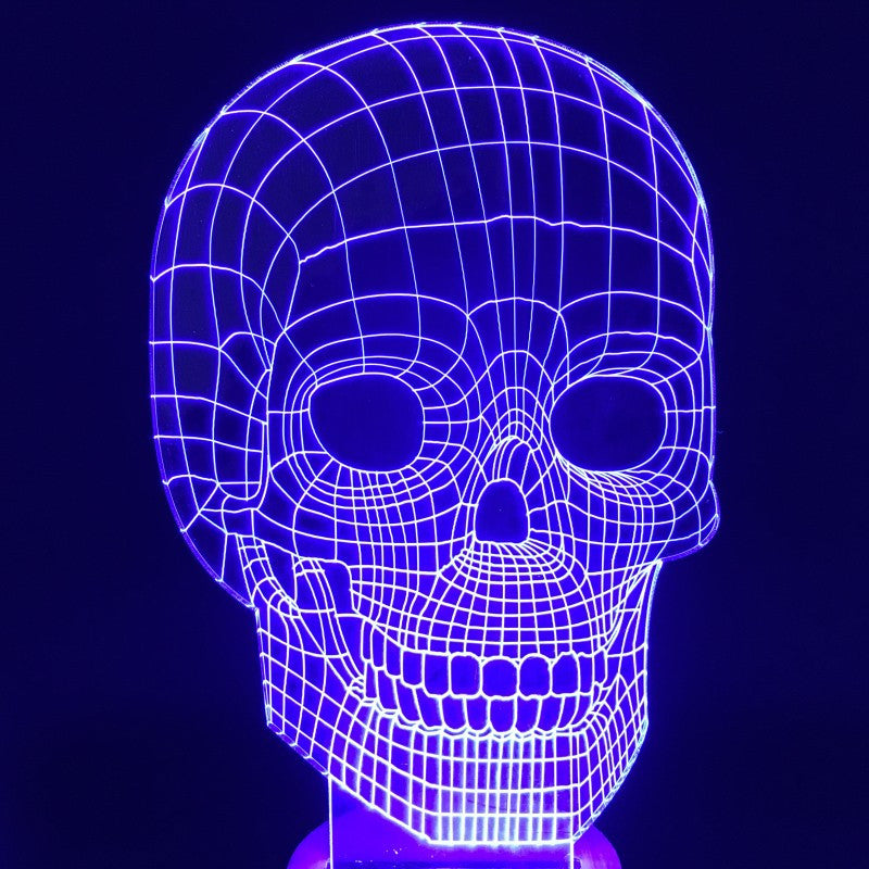 3D Skull Color Changing Wood Mood Lamp