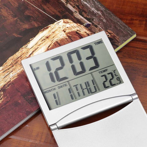 Calendar Alarm Clock Display date time temperature