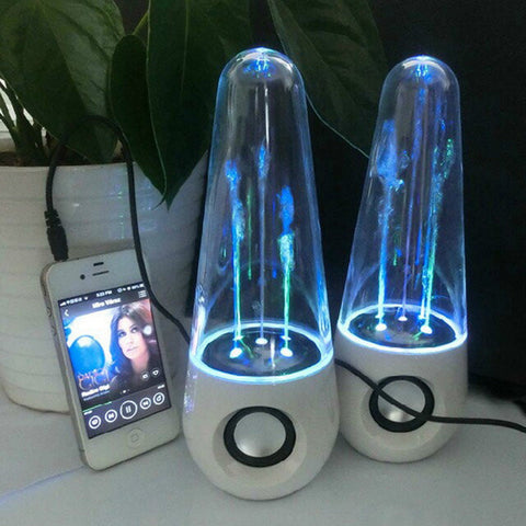 LED Dancing Water Fountain Light Speakers