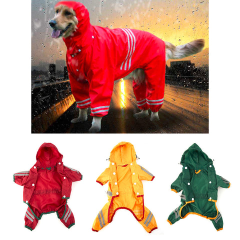 Dog/Cat Hoody Waterproof Raincoat