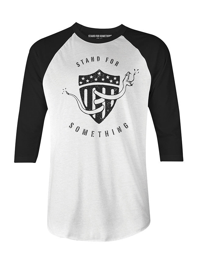 Stand For Something Franklin's Revenge Men's 3/4 Raglan T-Shirt
