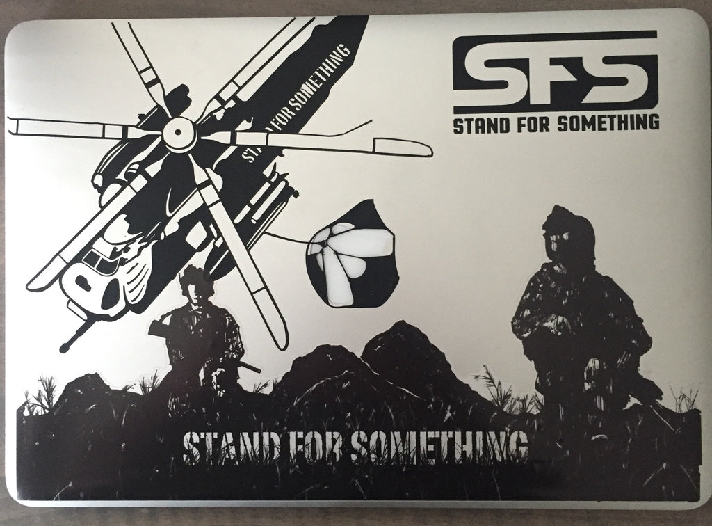 Stand For Something SFS Satin Black Custom Cut sticker
