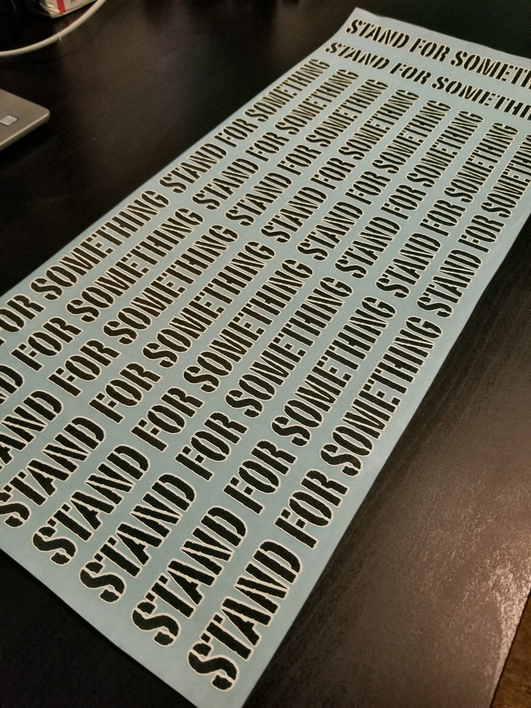 SFS Black and White Vinyl Die Cut Sticker