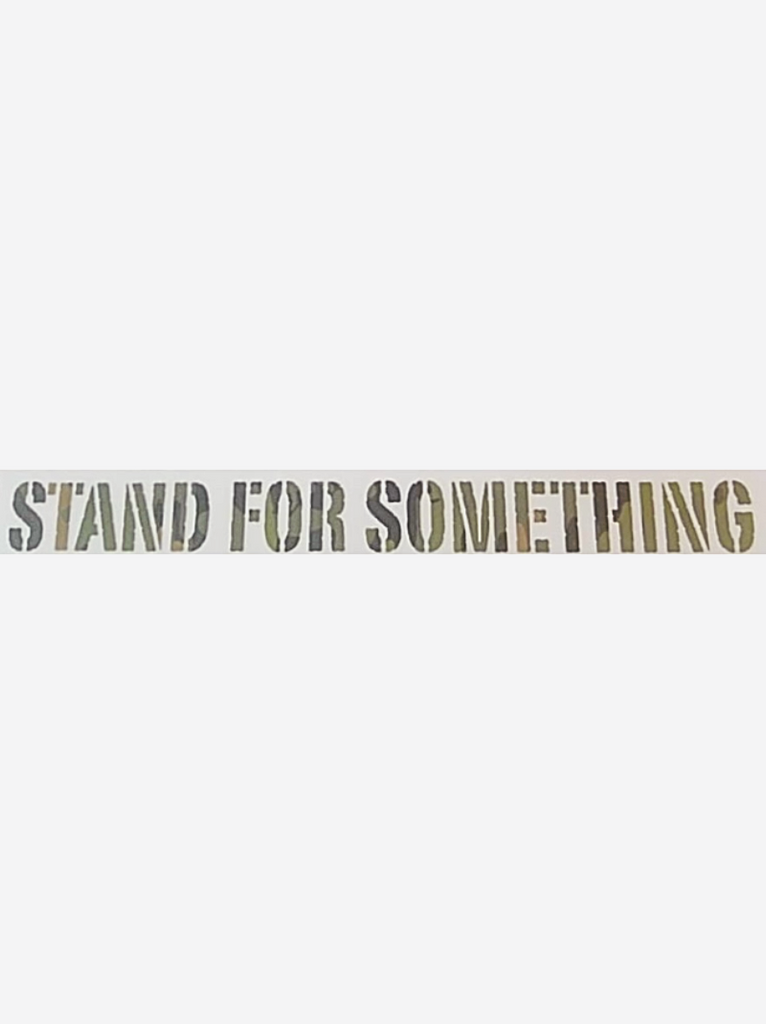 Stand For Something SFS Tropic Multi-Cam Vinyl Die Cut Sticker