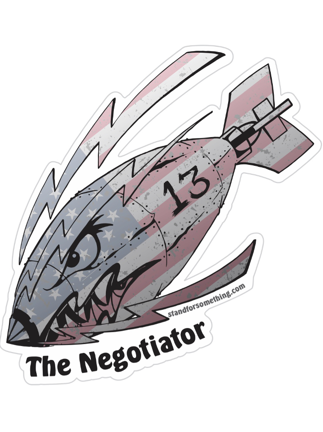 Stand For Something The Negotiator Sticker