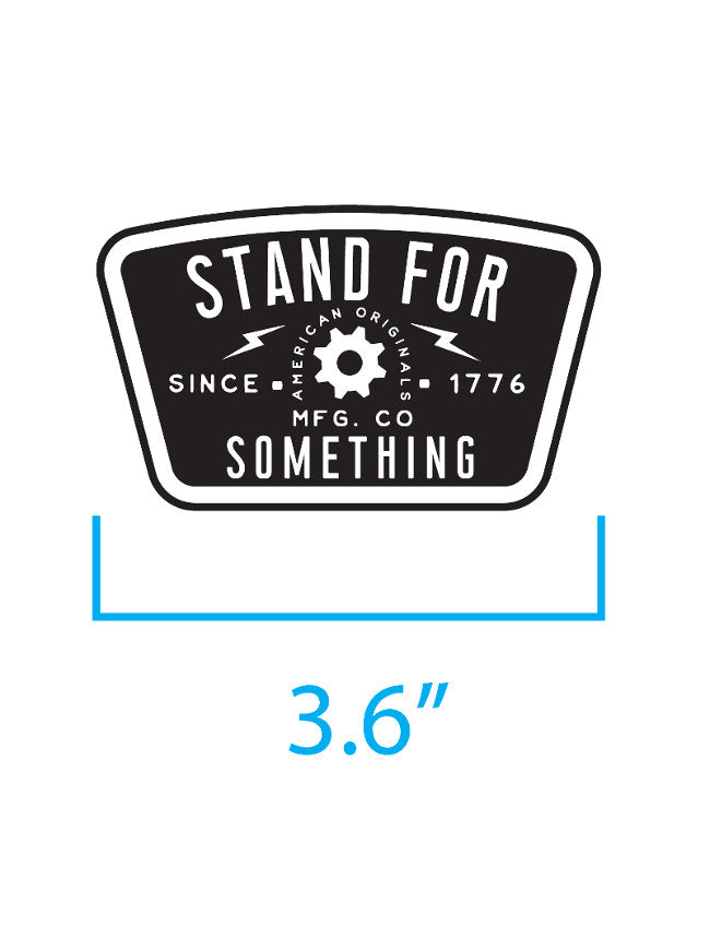 Stand For Something Blue Collar Mindset Velcro Backed Patch