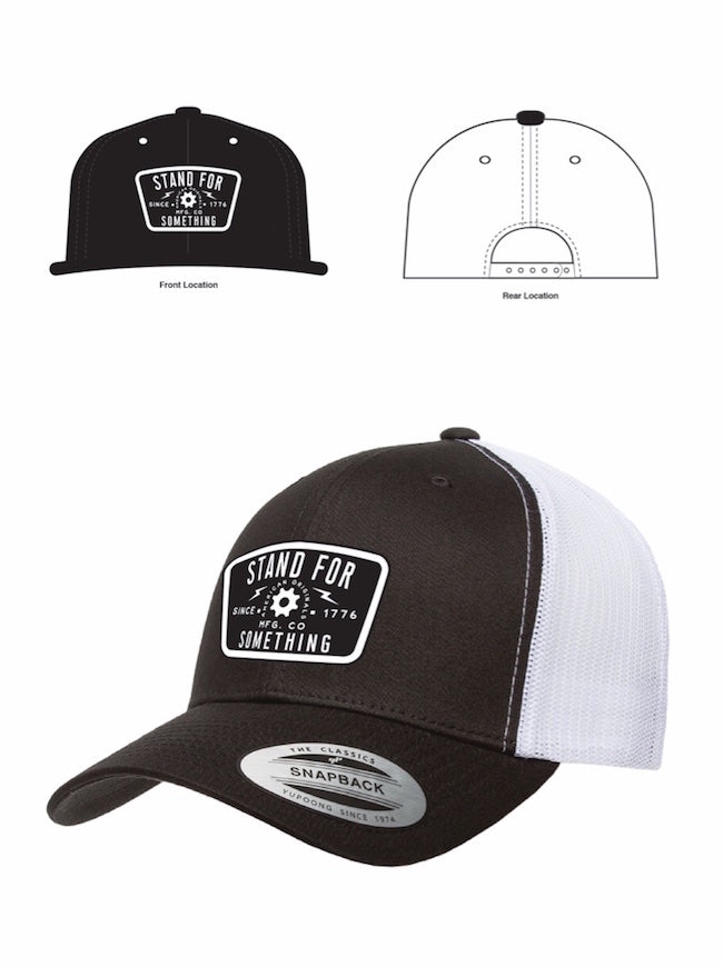 SFS Blue Collar Mindset Black and White Snap Back
