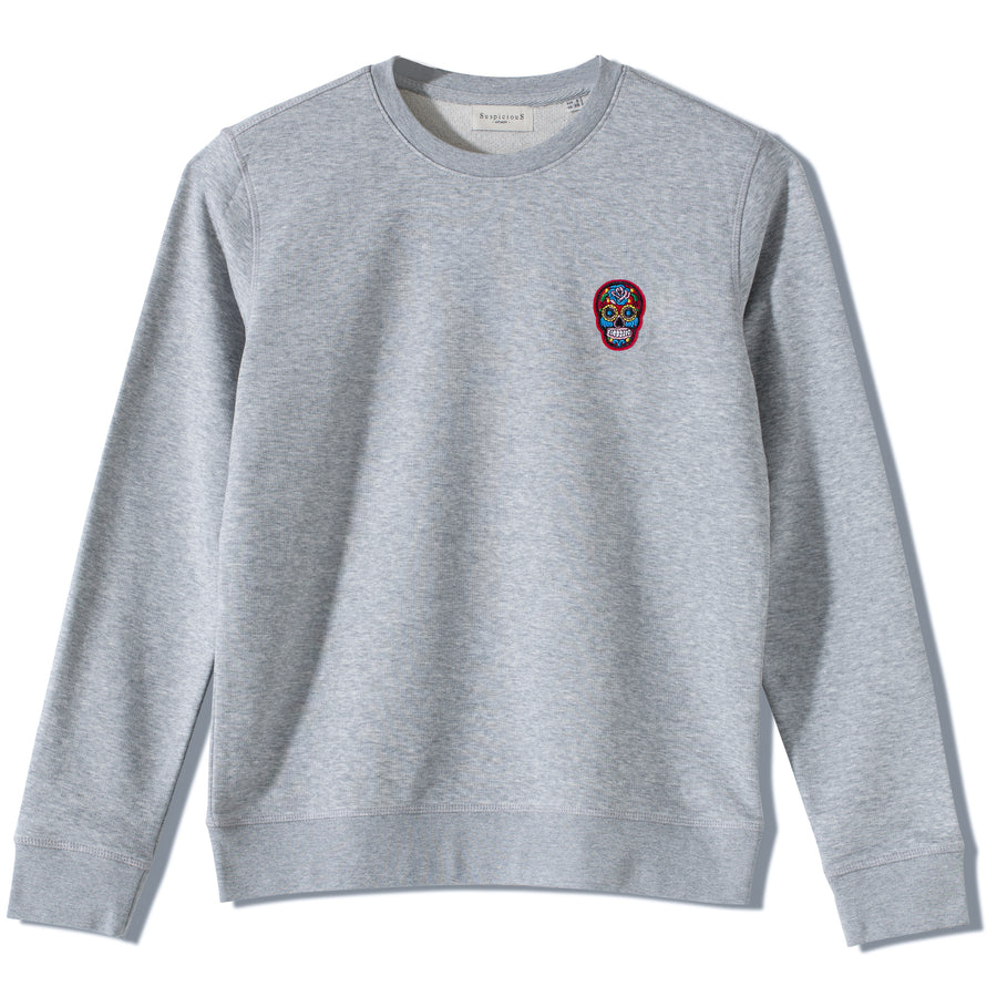 The Classic Sweater - Grey // Red