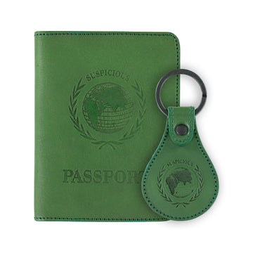 The Voyager Travel Kit - Green Leather