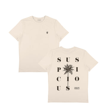 (Suspicious x Jay Alvarrez) DREAM WØRLD I Shirt - Sand // Black