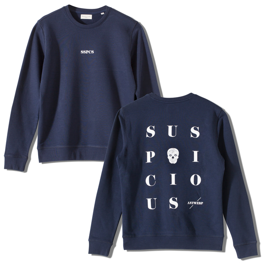 The Playground Sweater - Navy // White