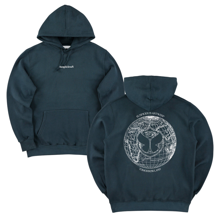 Suspicious x Tomorrowland Hoodie - Navy // Off-White