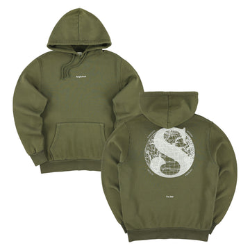 The Voyager Hoodie - Army Green // White