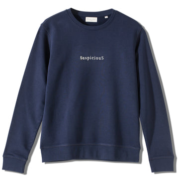 The Suspicious Sweater - Navy // White