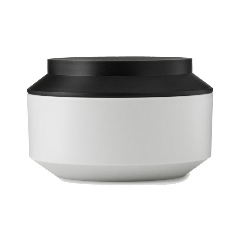 Geo Jar with Lid, large - Frost/Black