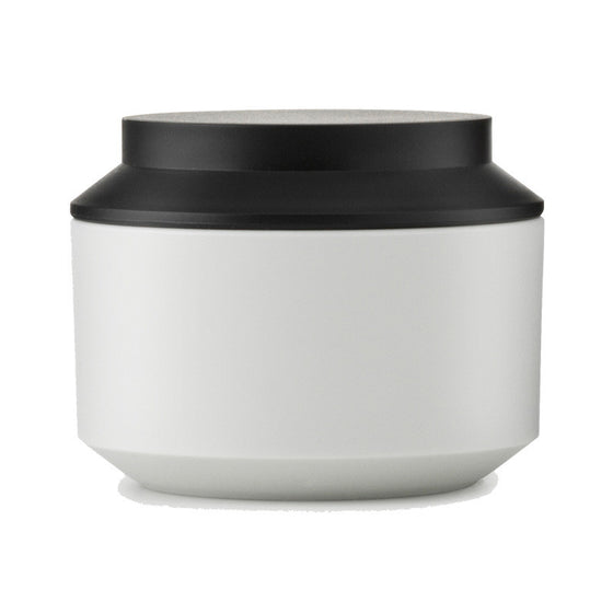 Geo Jar with Lid, small - Frost/Black