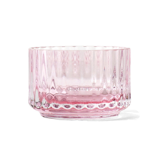 Lyngby Tealight Holder with Scented Candle - Soft Pink
