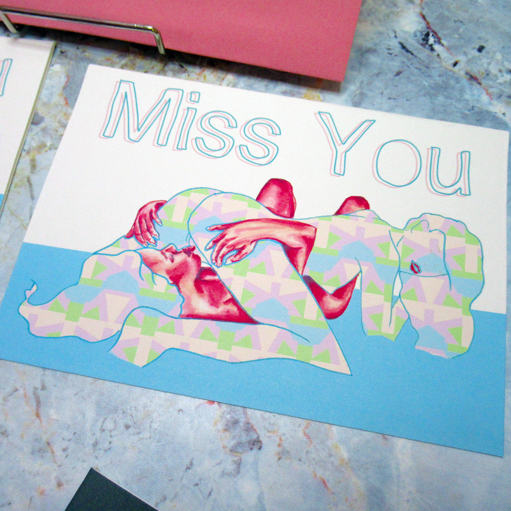 Miss You - Greeting Card Set + Stamps
