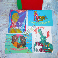 Happy Holidays - Greeting Card Set + Stamps