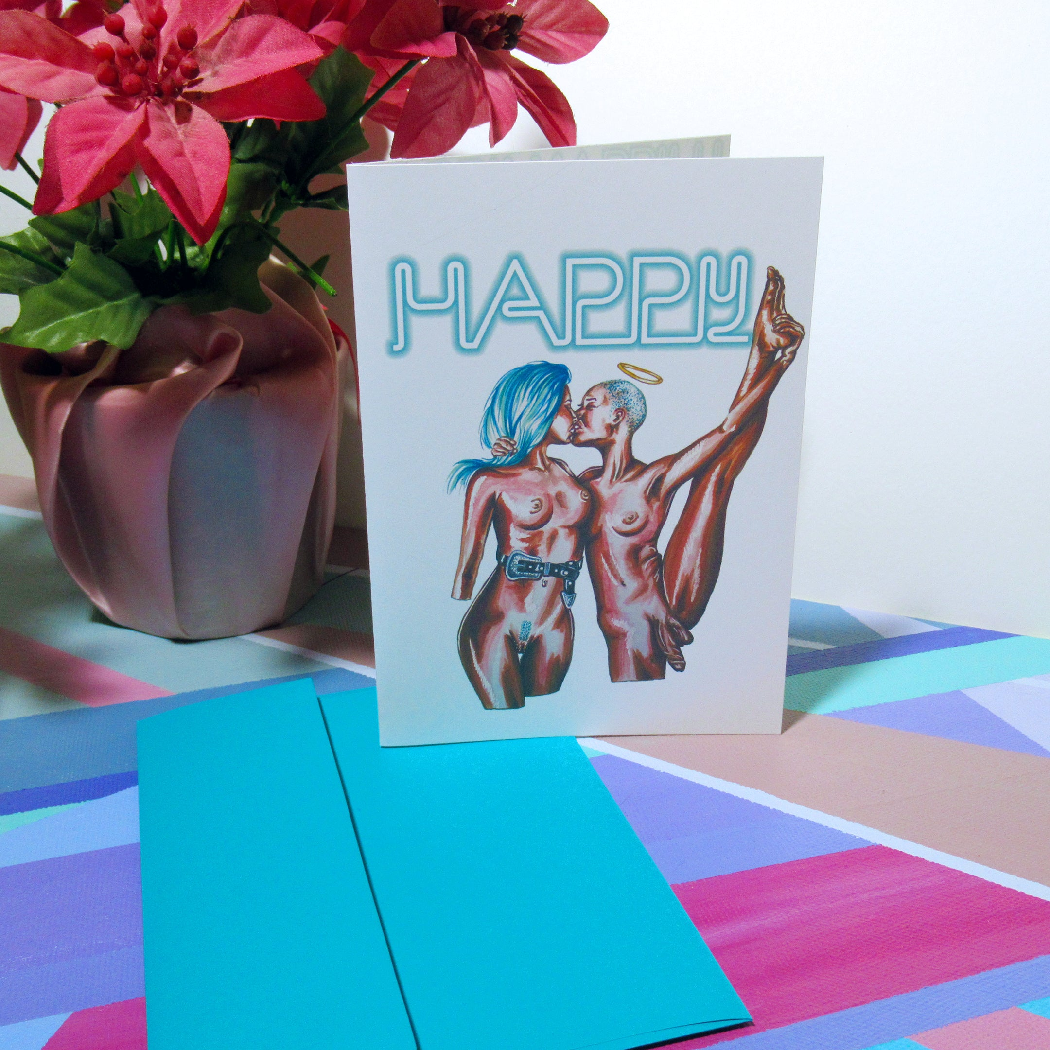 HAPPY - Greeting Card