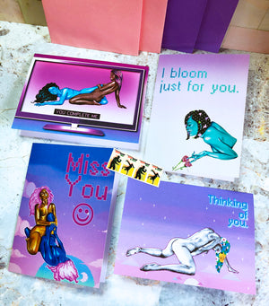 Romancing You - Greeting Card Set + Stamps