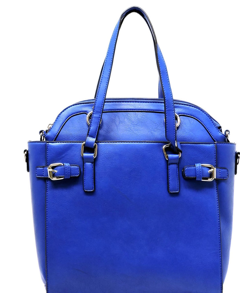 Zeta Phi Beta Belted Satchel & Round Top Handle Satchel 2pcs Set