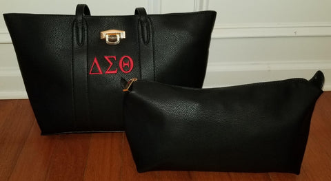 Embroidered Delta Sigma Theta 3 in 1 Handbag