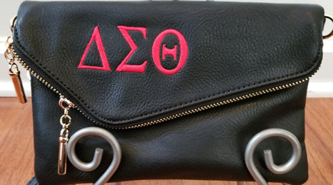 Delta Sigma Theta Medium Envelope Messenger Zip Clutch