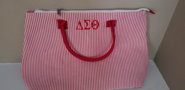 Delta Sigma Theta Quilted Large Tote Bag