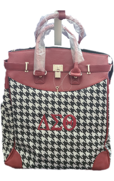 Embroidered Delta Sigma Theta Rolling Travel Tote