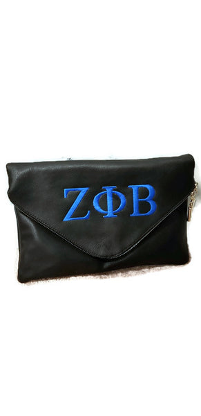 Zeta Phi Beta Large Envelope Clutch