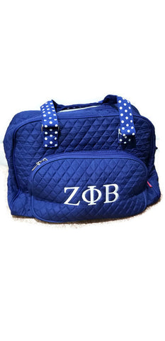 Zeta Phi Beta Quilted Weekender Bag